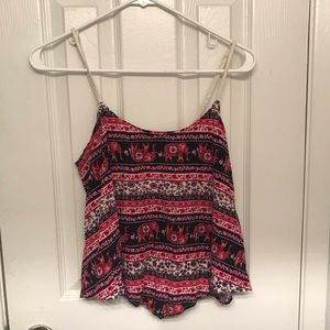 Boho flowy crop top